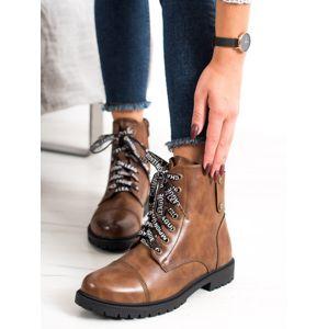 Dámske členkové topánky 67634