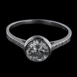 Strieborný prsteň 34254