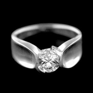 Strieborný prsteň 34666