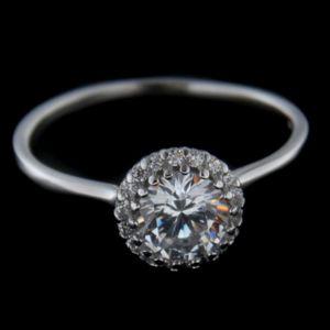 Strieborný prsteň 56205