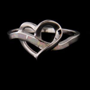 Strieborný prsteň 58727