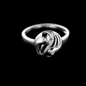Strieborný prsteň 15145
