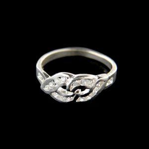 Strieborný prsteň 15224