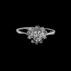 Strieborný prsteň 25520